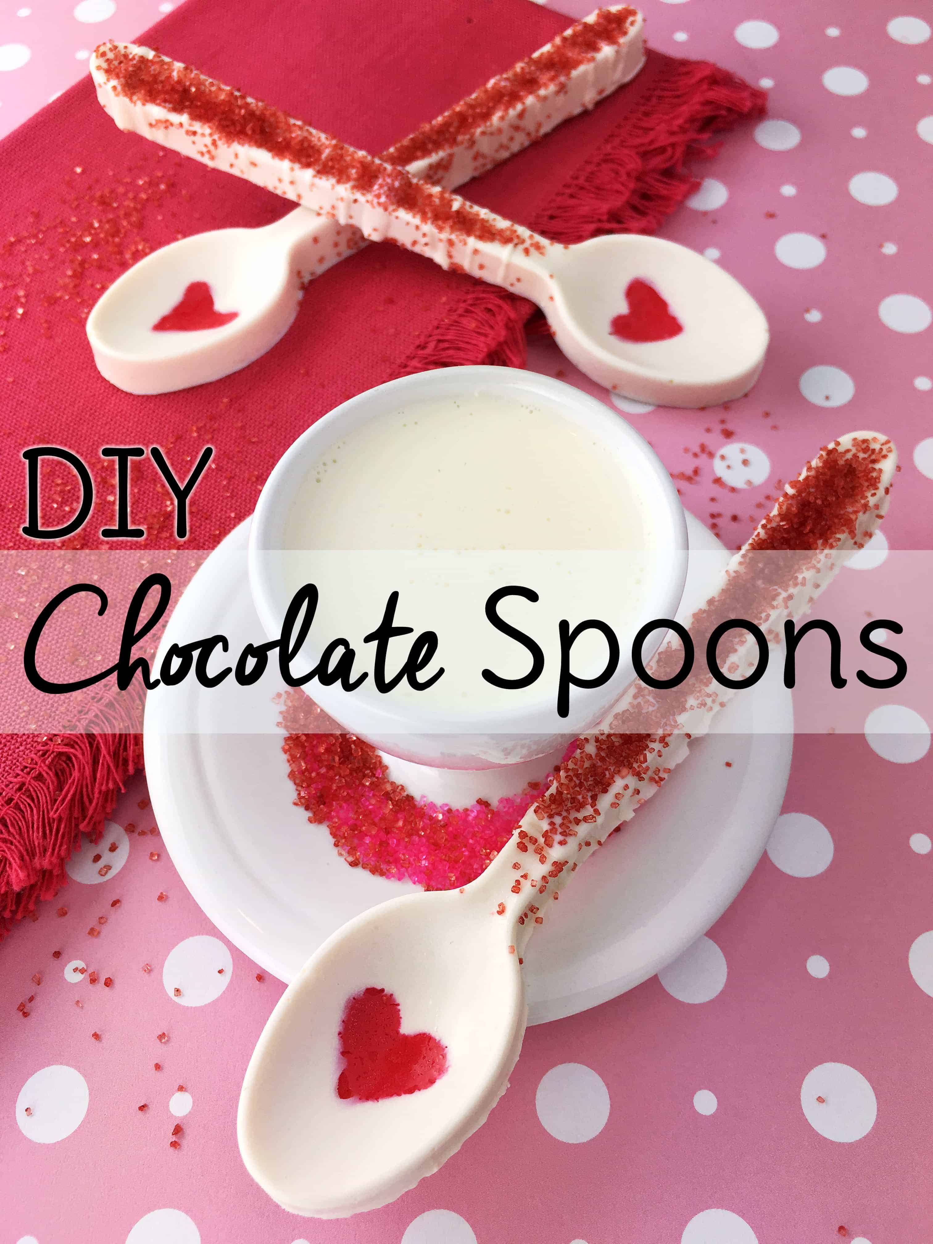 Valentine Chocolate Spoons Sweet T Makes Three