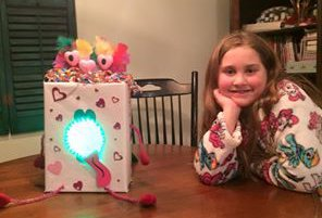 light up valentine box with moving tongue