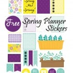 Free Erin Condren Planner Stickers for Spring!