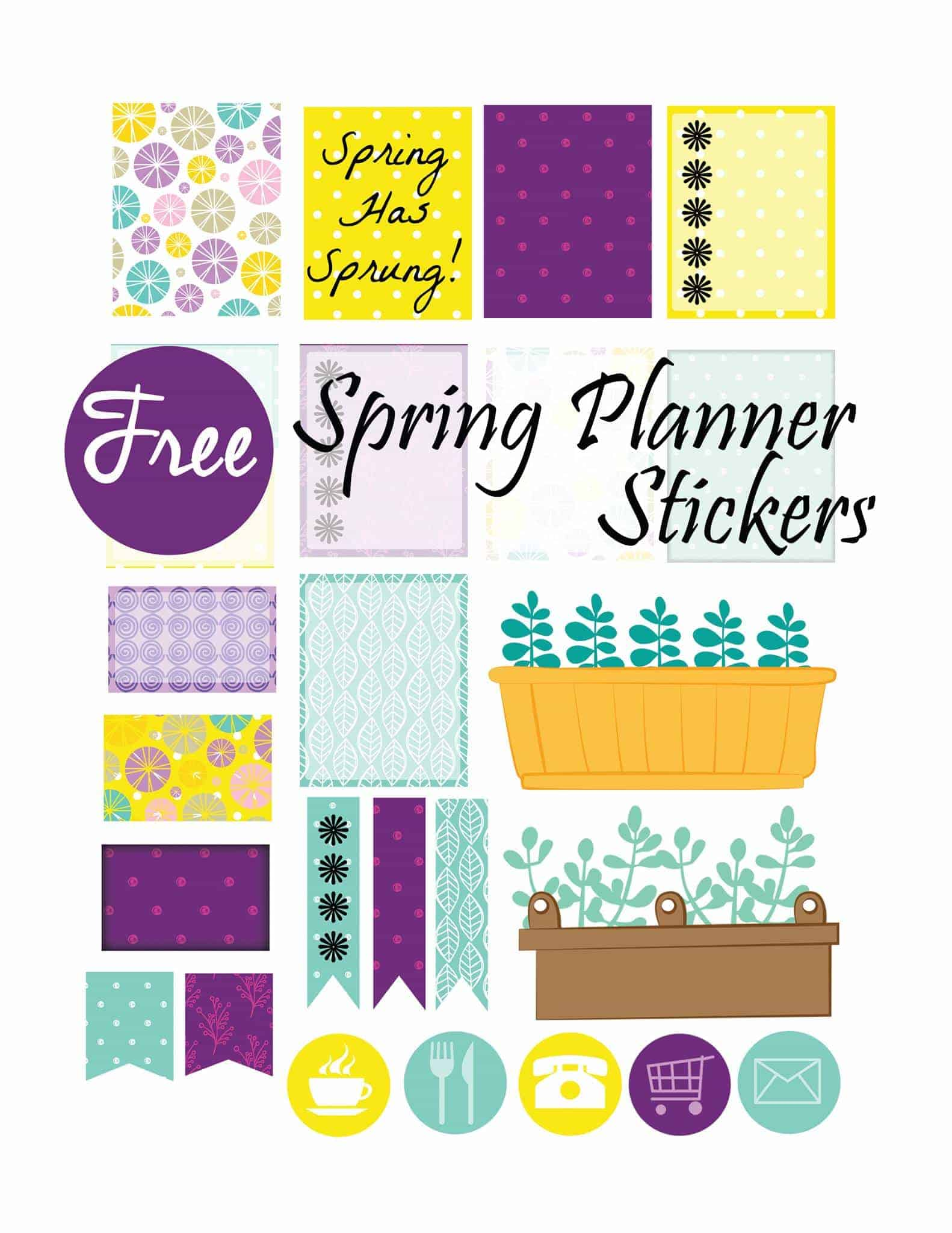 Free Erin Condren Planner Stickers for Spring! | Sweet T ...