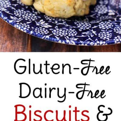 Gluten free biscuits and gravy! Both the biscuits and the sausage breakfast gravy are free of dairy and gluten and taste as great as the originals!