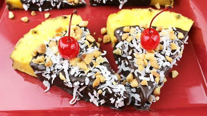 These easy summer snack ideas make a chocolate tropical treat!