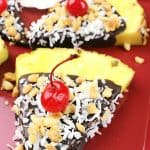 Simple Pineapple Snack with Chocolate