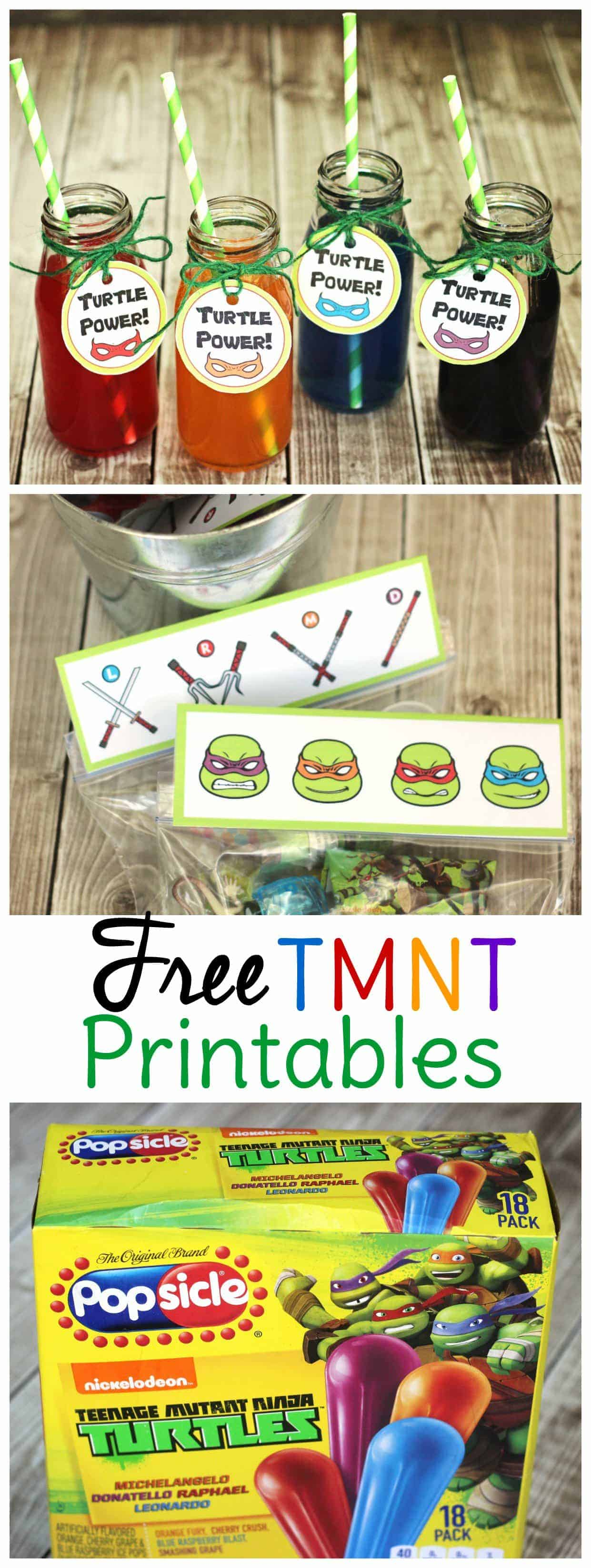 Use these TMNT party ideas and free TMNT printables to throw an epic birthday party or playdate!