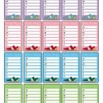 Daily Steps Planner Stickers. Free Printable!
