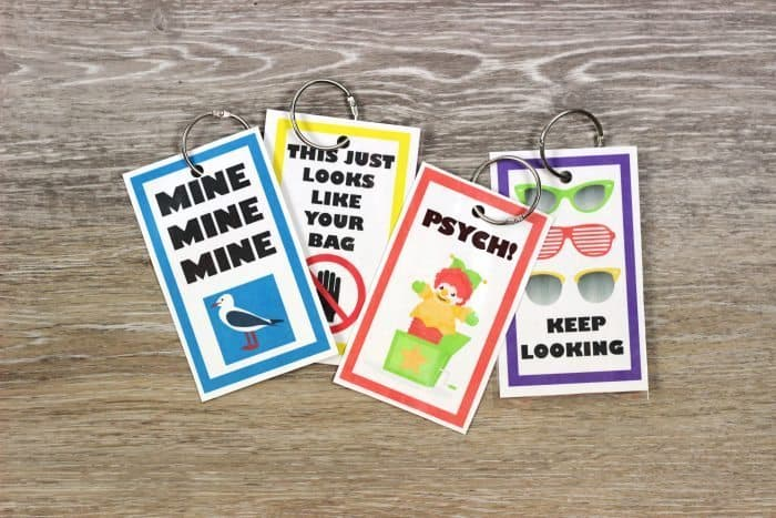 DIY a set of these funny free printable luggage tags forhappy travels!