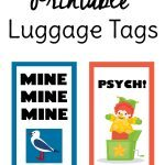 Funny Free Printable Luggage Tags