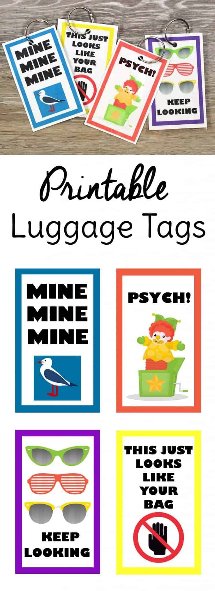 picture about Free Printable Luggage Tags named Amusing Cost-free Printable Baggage Tags Adorable T Can make A few