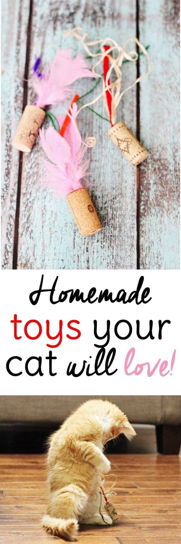 Your cat will love these easy cat toys to make from wine corks!