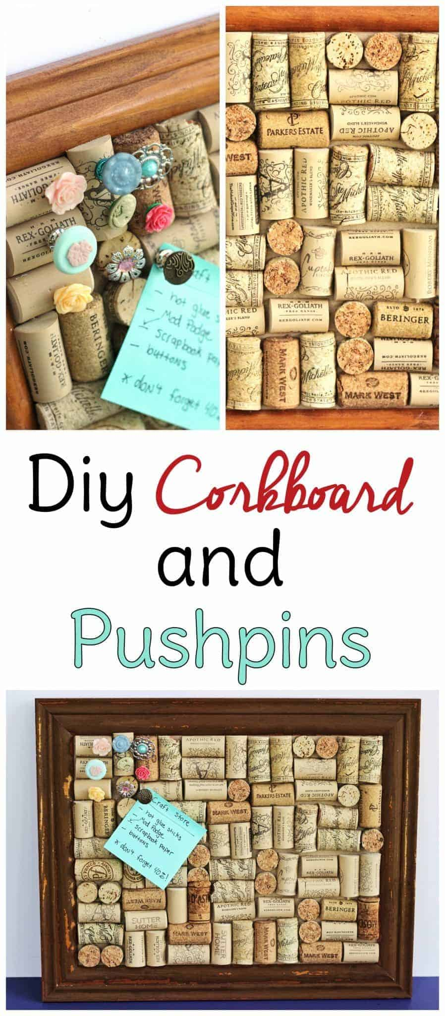 Used wine corks for crafts - Make Your Own Cork Board From Wine Corks