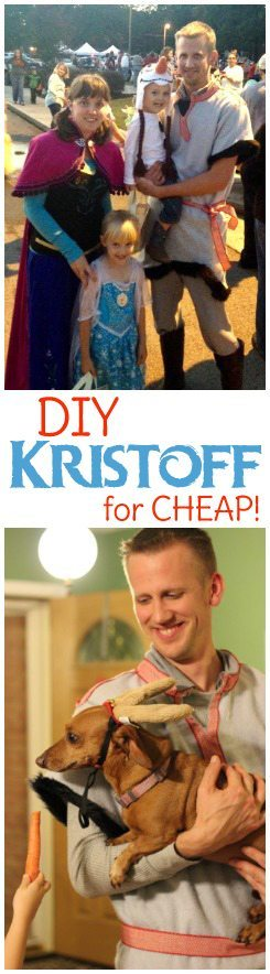 We always do family Halloween costumes and for our Frozen theme I needed a Kristoff costume for Hubs that wouldn't break the bank. Here's how to make a DIY Kristoff costume that is cheap, easy and comfy.