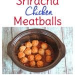 Slow cooker recipes are my favorite way to get dinner on the table. Try this Crock-Pot recipe for Sriracha Chicken Meatballs for an easy game day appetizer. You'll fall in love with Crockpot dishes like I have!