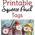 Use these free squeeze pouch printables to make fun lunchbox notes or as Valentine party favors.