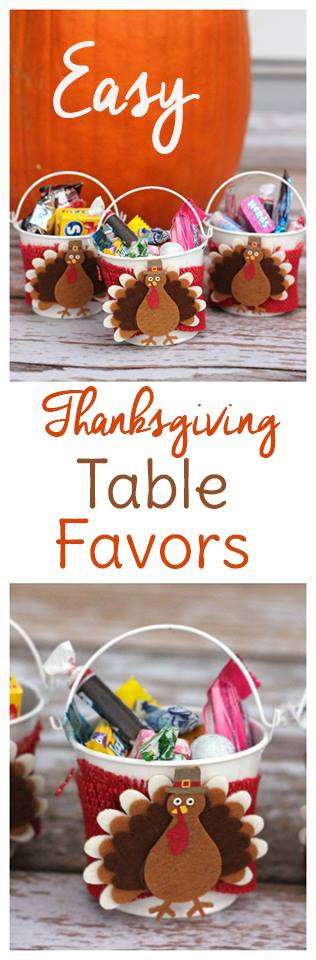 Edible thanksgiving table favors to make with kids