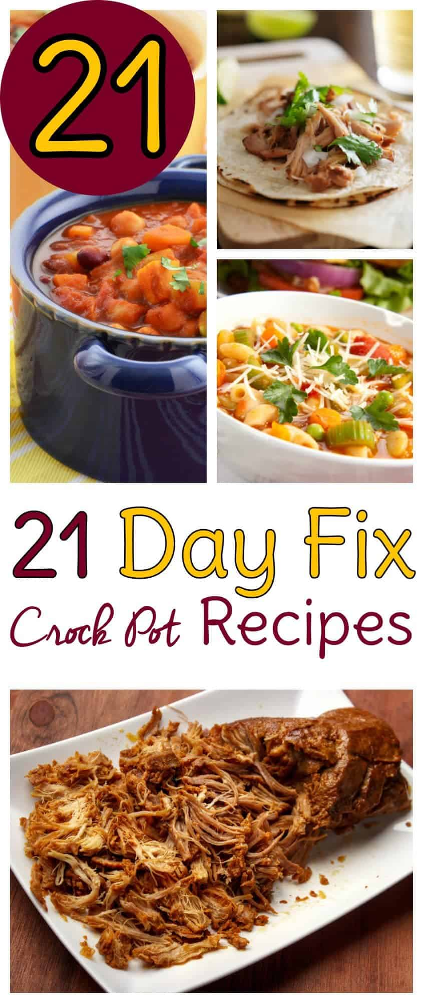 21 Day Fix Crockpot recipes! Use these healthy Crock pot recipes for your 21 Day Fix and set yourself up for success.