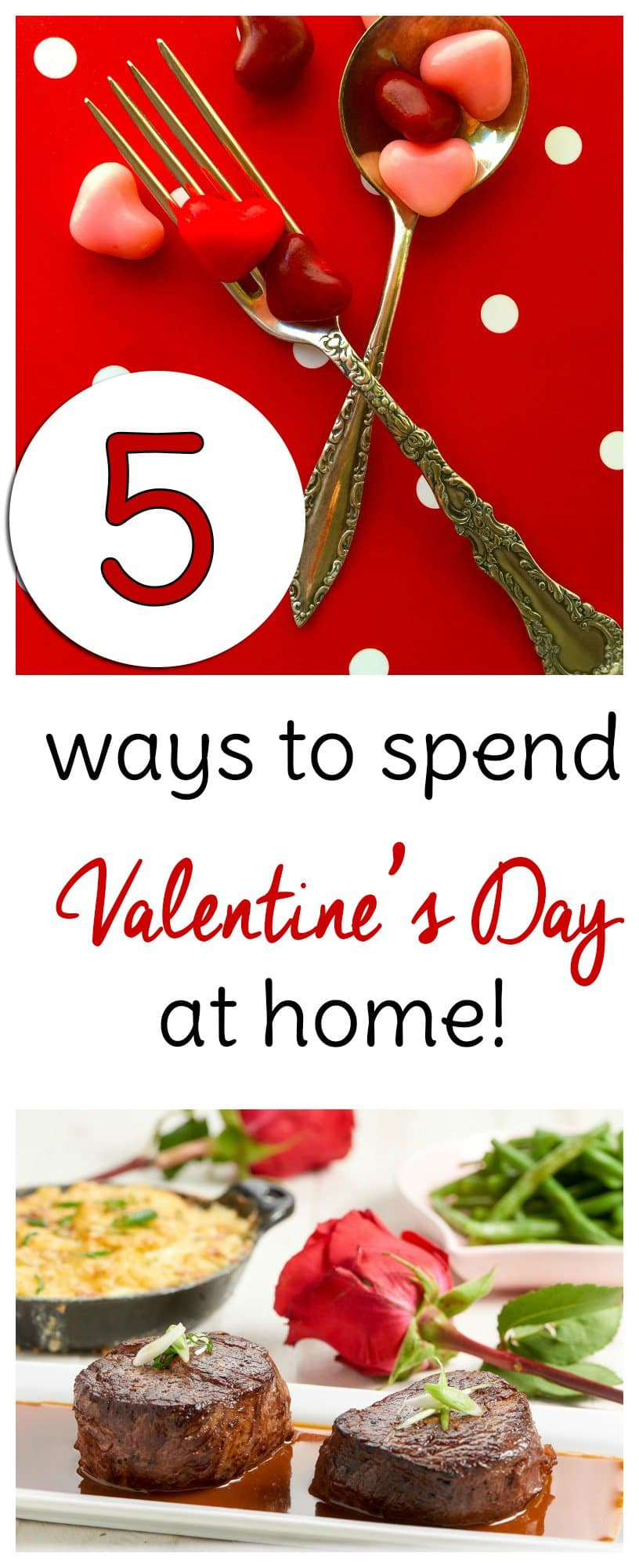 Valentine's Day is coming up but if you can't find a babysitter, you may need to plan a Valentine's Day date at home. Try these 6 date night ideas to make sure you have a romantic evening even if you never leave home.