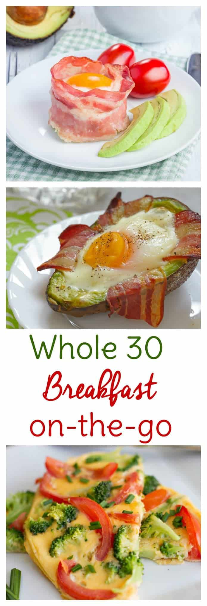 Whole 30 breakfast to go is a convenient way to start your day off on the right track. Make ahead these Whole 30 breakfast recipes or whip them up and eat on your way to work.
