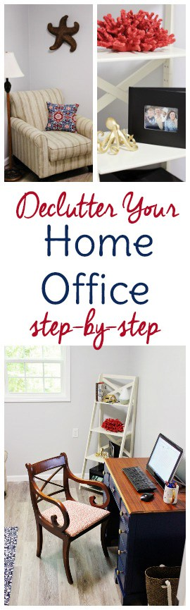 Home office organization starts with decluttering your home office! Check out this step-by step method to declutter, organize, and take back your productivity.