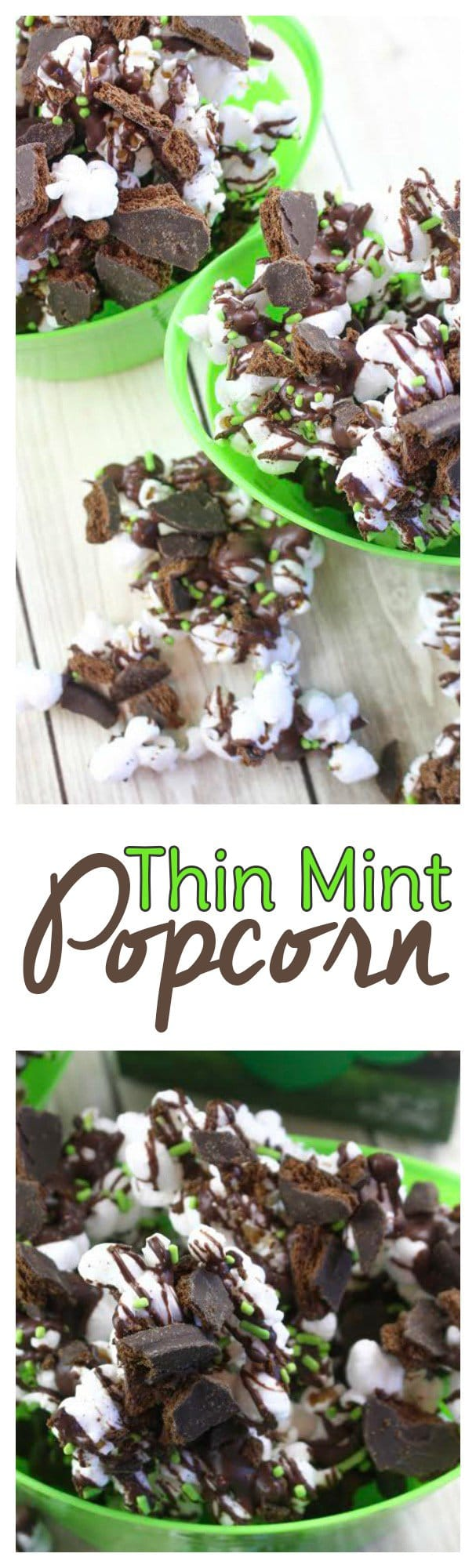 Need a leftover Girl Scout cookie recipe? Try this Mint Chocolate Popcorn Recipe! It's is a creative way to use up those leftover Girl Scout cookies.