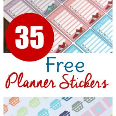 Check out these 35 different set of free planner stickers to print! Perfect to print and cut or use with machine for your ECLP, Happy Planner, and more!