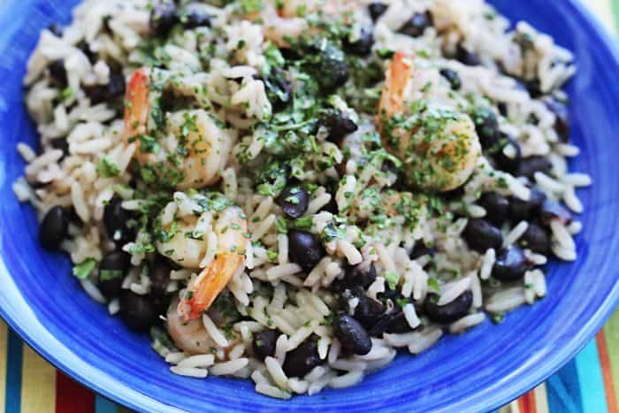 It seems like there's a dearth of Instant Pot shrimp recipes out there (and Instant Pot seafood recipes in general), so I just made this Instant Pot shrimp and rice (and beans!) and couldn't be happier. Not only is it possibly the most easy Instant Pot recipe I've made to date, but it tastes delicious and mixes things up in your Instant Pot repertoire from the usual chicken Instant Pot recipes and roasts.