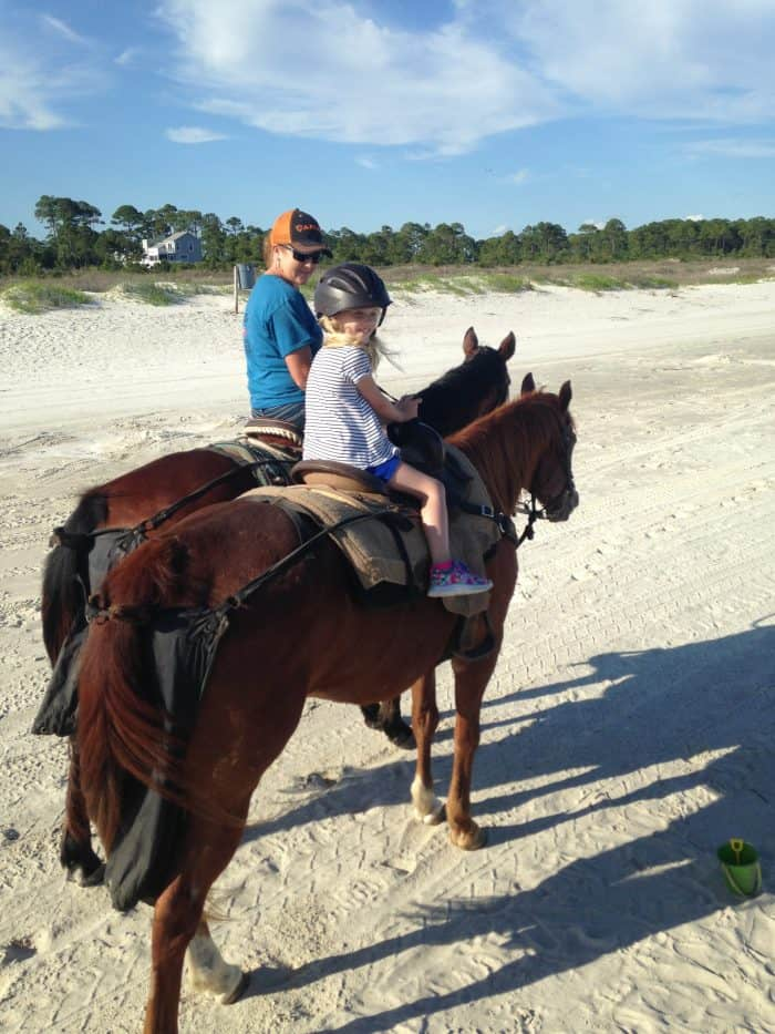 Horseback Riding On The Beach In Florida Panhandle