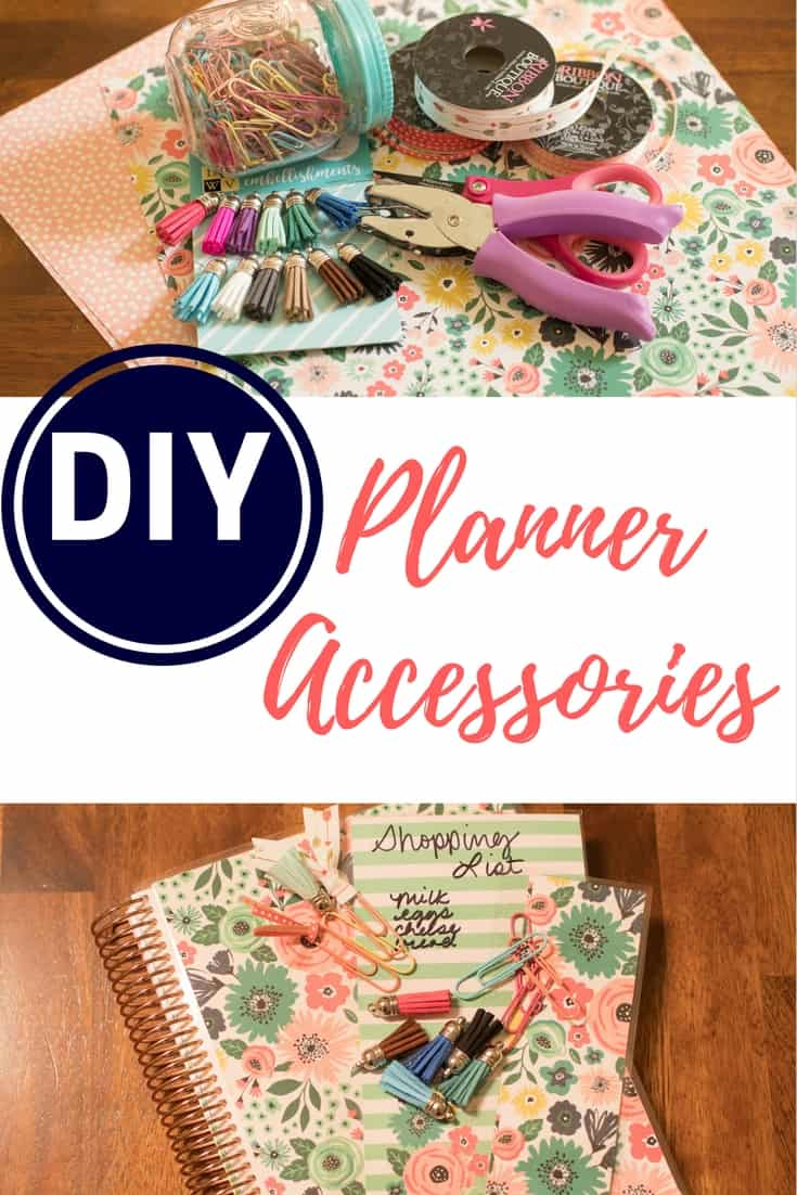 If you love to personalize and decorate your planner, try these affordable DIY Planner Accessories! Make a matching DIY planner cover, snap-in list, and page markers