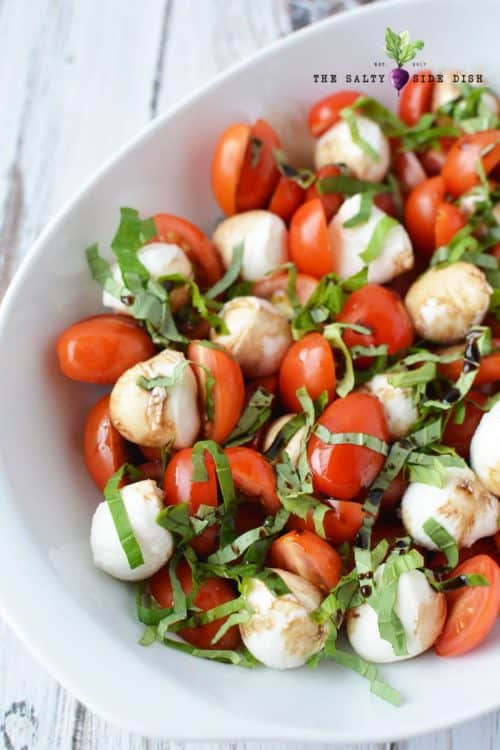 caprese salad with tomatoes