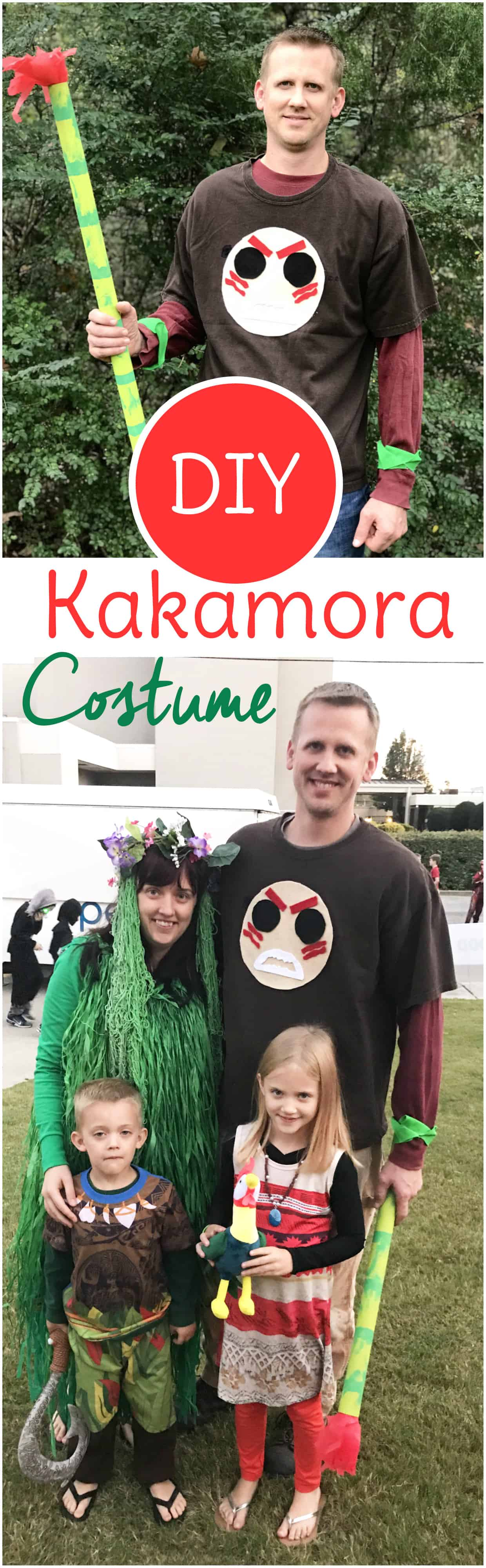 DIY kakamora Halloween costume for your Moana family costumes this year!