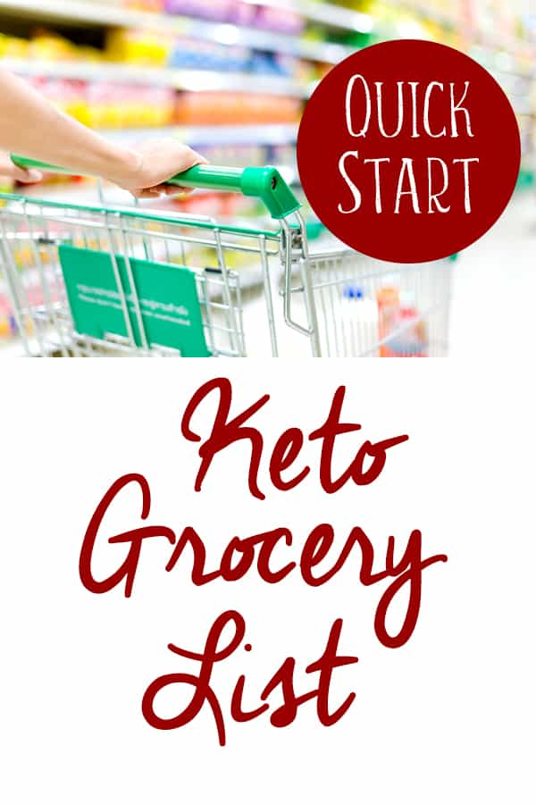 If you're doing specific recipes for your keto meal plan, you'll likely make your own keto diet shopping list. This beginner keto grocery list printable is more like a cheat sheet. Use it as a quick start guide to start the ketogenic diet today!
