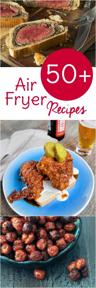 Break out your Airfryer and get cooking with these 50 free Air Fryer recipes broken down by category. Air Fryer Beef, Pork, Chicken, Seafood, Meatless, and Dessert recipes!