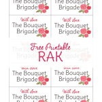 Random Acts of Kindness Printable: The Bouquet Brigade
