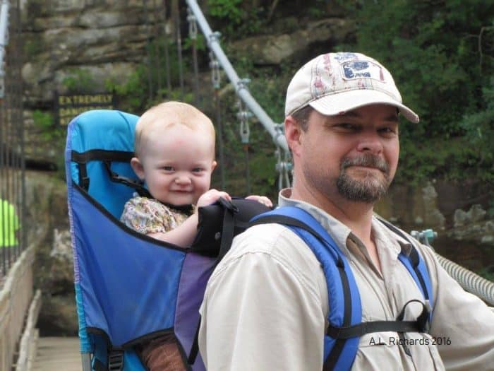 hiking with a baby carrier
