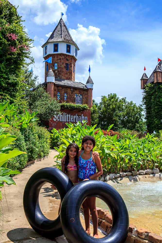 schlitterbahn hillside castle and tube ride
