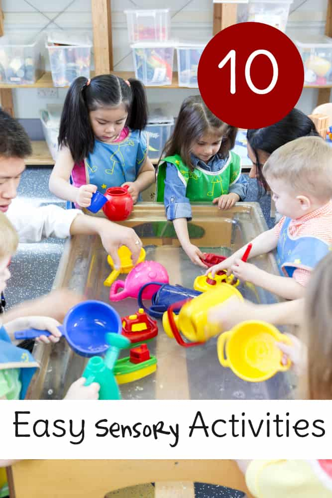 10 easy sensory activities for babies, toddlers and preschoolers