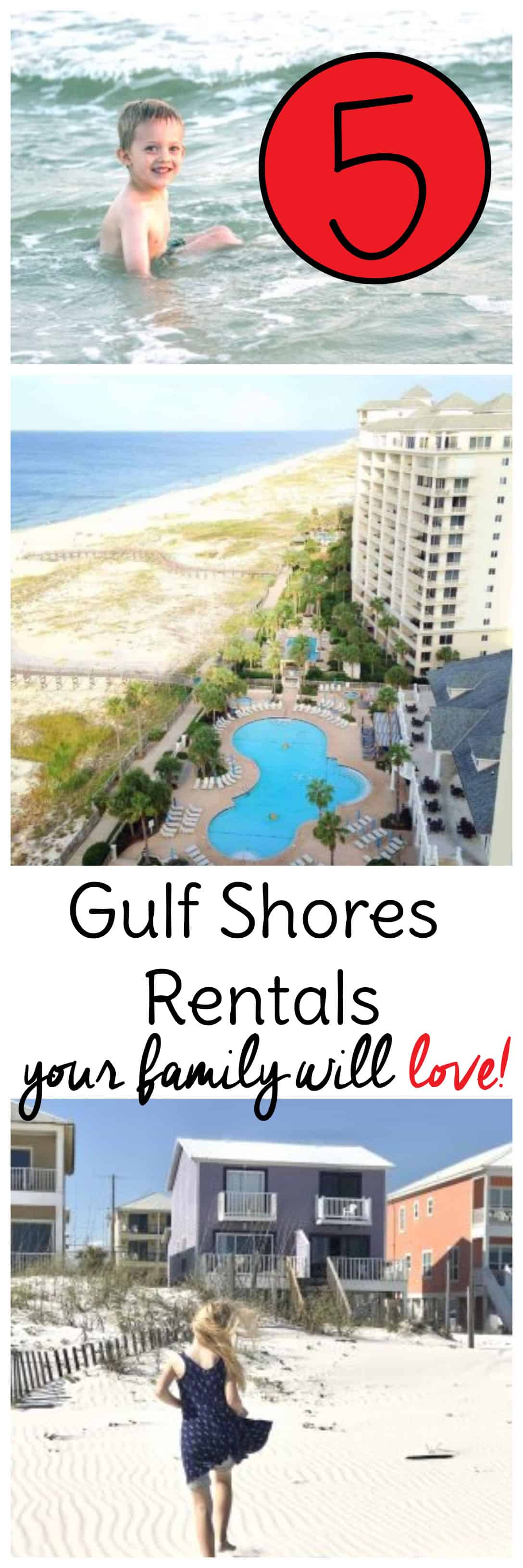 Wondering where to stay on your next Gulf Shores Alabama Vacation? Check out these 5 rentals our family has LOVED. #gulfshores #travel