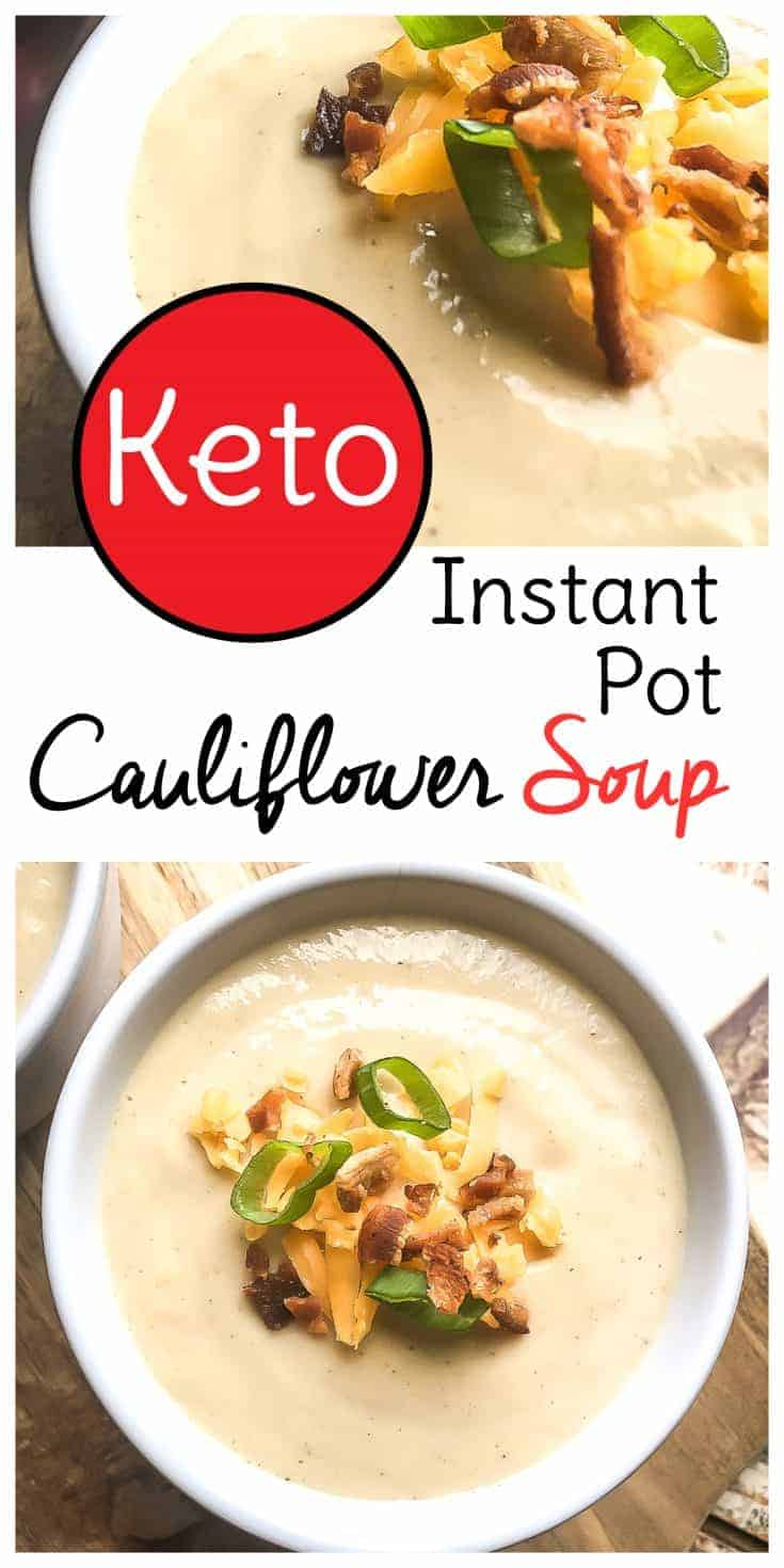 This keto instant pot soup will add some much needed variety to your low carb diet. Enjoy this keto soup recipe hot or chilled! #instantpot #keto #soup