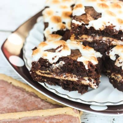 Smores Pop Tart Stuffed Brownies