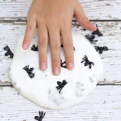 spider halloween slime