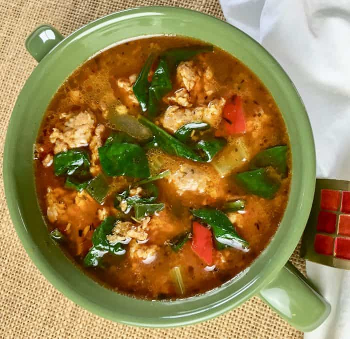 low carb sausage soup