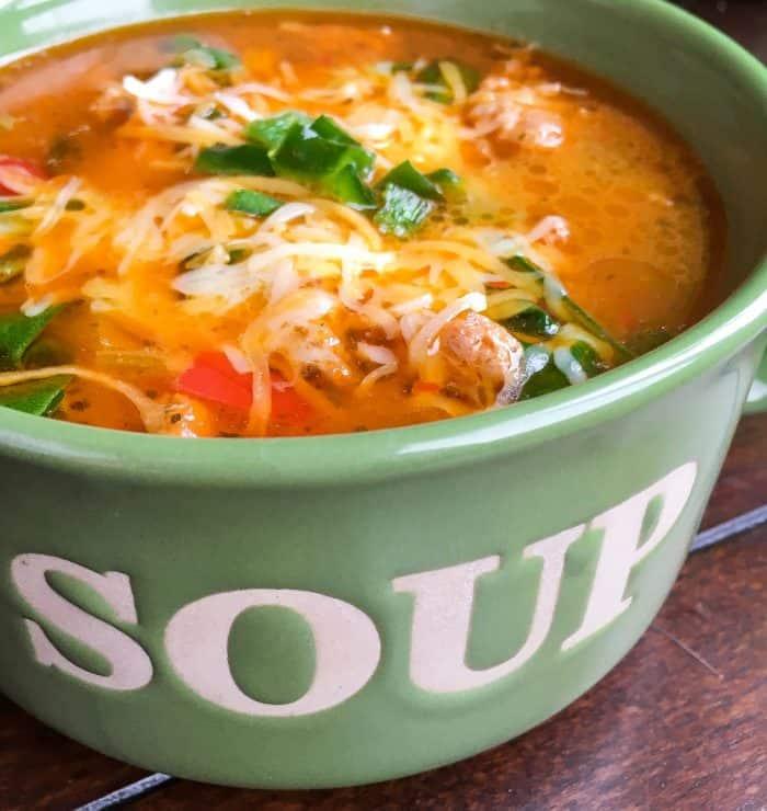 keto instant pot sausage soup