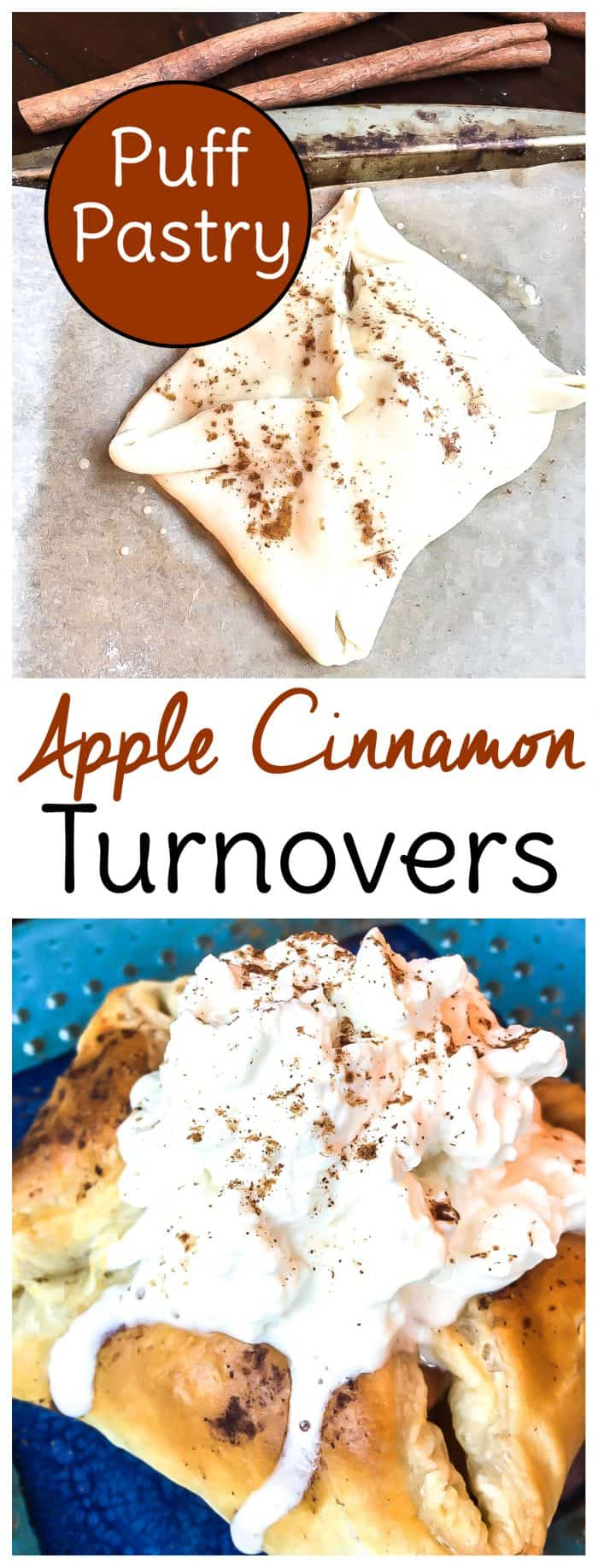 apple cinnamon puff pastry turnovers