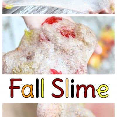 This fall slime recipe makes for an easy fall crafts for kids. My daughter and her friend loved it! Once your kids make glitter slime, you'll both be hooked.