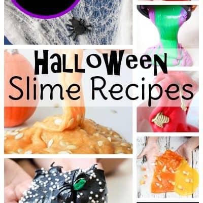 Halloween slime for kids! 20 spooky Halloween slime recipes and ideas for fun and sensory play.