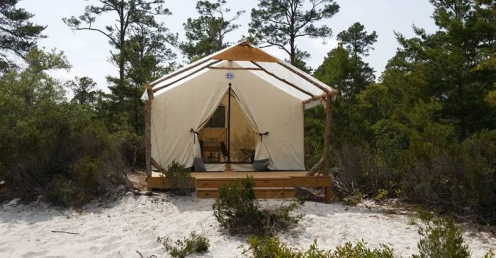 gulf state park outpost campsite