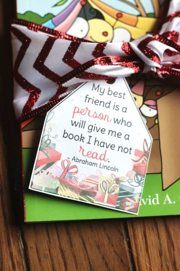 free printable christmas gifts tags for books