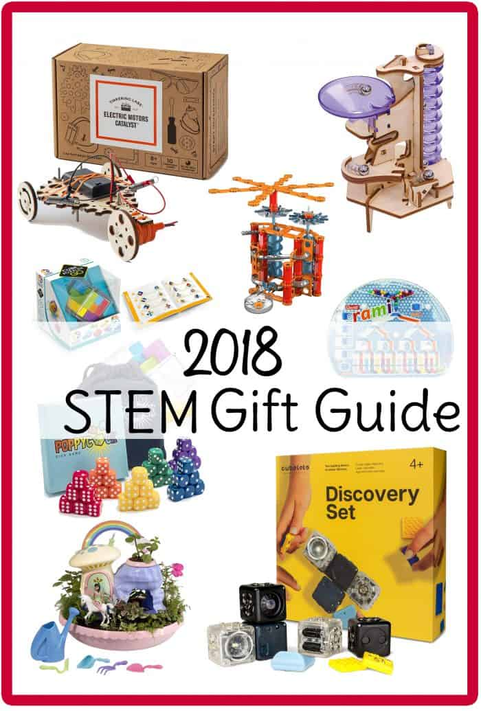 STEM gifts for kids for Christmas 2018! You'll find just about any STEM toys for kids you can think of in this holiday gift guide. #STEM #giftsforkids