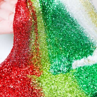 red and green christmas slime