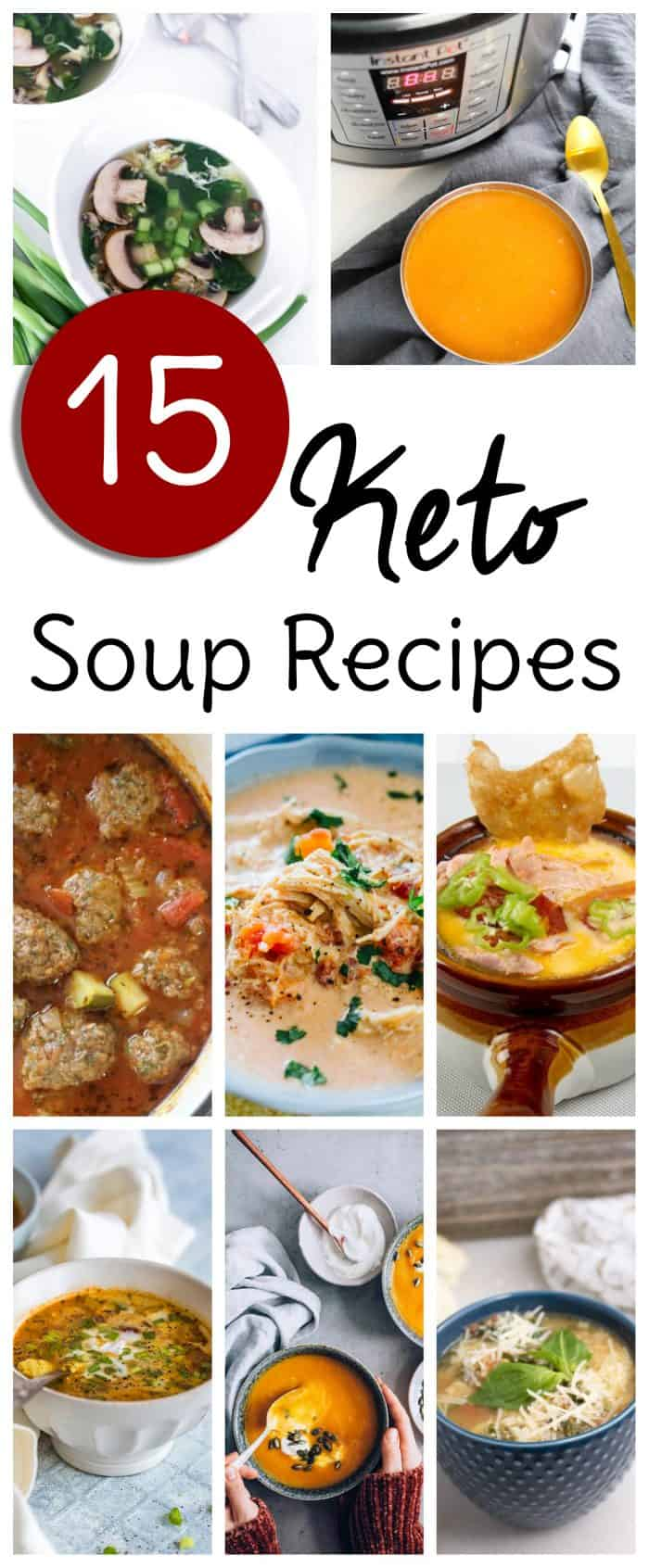 Keto soup recipes are a great way to feel cozy and warm this winter without getting your low carb way of eating off track. Many of these Keto soup recipes are designed for the Instant Pot, but even ones that aren't are very easy to adapt from a stove top or Crock Pot recipe once you're familiar with how pressure cooking works. #keto #soup #instantpot