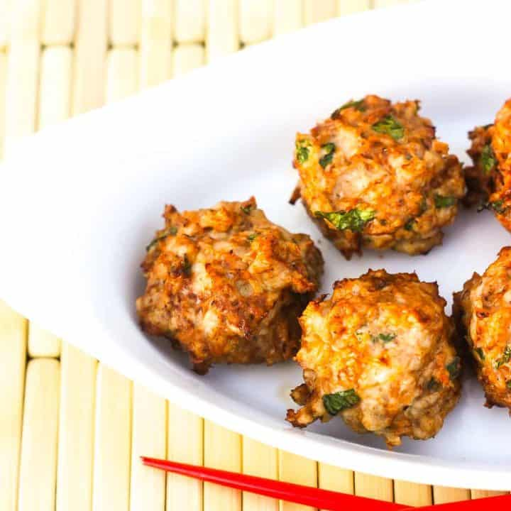 Air fryer meatballs low carb with 5 weight watchers points